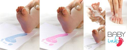 Käe ja jalajälje tegemise komplekt